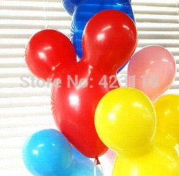 Wholesale Minnie mouse birthday party supplies MICKEY RED MINNIE MOUSE ears LATX balloons mouse speaker mouse genius