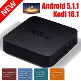 Wholesale Box Android MXQ K Player Rockchip RK3229 Quad Core Andorid KODI fully loaded IPTV Box suport D