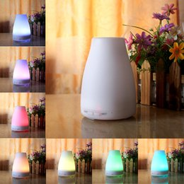 Wholesale 120ml Essential Oil Diffuser Portable Aroma Humidifier Diffuser LED Night Light Ultrasonic Cool Mist Fresh Air Spa Aromatherapy ST BY DHL