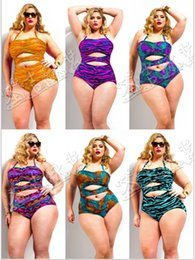 Wholesale Hot Women Swimsuit Plus Size One Piece Brand Swimwear New High Waist Beach Sexy Halter Bathing Suit for Lady Cutout
