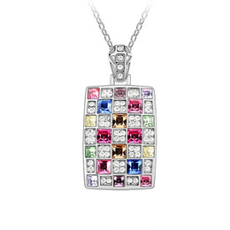 Austria Crystal Costume Jewellery Accessories With Rhinestone Luxury Pendant Necklace Made with Swarovski Elements Crystal Necklace 3661