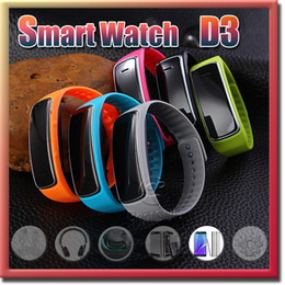 Wholesale Smart Wrist Watch D3 Smartband Waterproof Bluetooth Fitness Tracker Health Bracelet Sports Wristband Gear Fit For Android IOS Phone