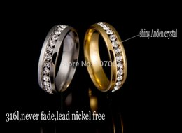 Wholesale Never Fade k Gold Plated l Stainless Steel Ring Titanium Steel Engagement Wedding Ring