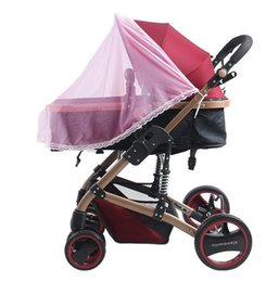 Fashion Baby Mosquito Insect Shield Net Stroller Pushchair Safe Infants Protection Mesh Stroller Accessories Mosquito Net T7038