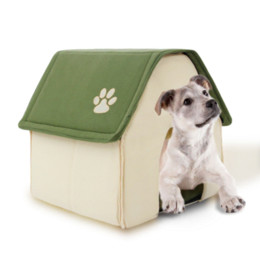 Wholesale 2015 New Product Dog Bed Soft Dog Kennel Dog House For Pets Cat Puppy Home Shape Animals House Products For Animal Removable