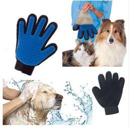 Wholesale 2016 Product Silicone Massage True Touch Glove Deshedding Gentle Efficient Pet Grooming Dogs Bath Pet Supplies Blue