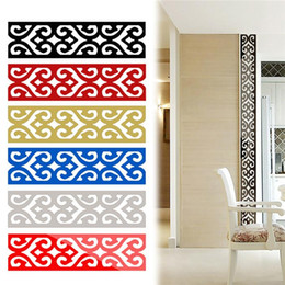 Wholesale Top Seller D Mirror DIY Removable Wallpaper Skirting Wall Stickers Ceiling Background Decal Acrylic Home Decor JM27