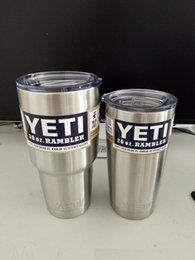Wholesale 10 double wall stainless steel oz vacuum insulated yeti tumbler yeti cup with sliding lid best selling beer mugs