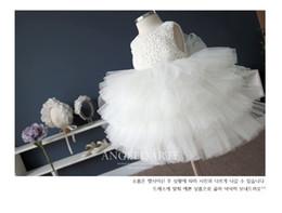 1-12Y Hot Sale Elegant Tulle Dress White Satin Baby Girl Tutu Dress Kids Prom Wedding Party Festival Birthday Dresses Wedding