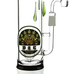 Wholesale DGC HIGH Bottle Glass Water Pipes Clear Oil Rigs White Snowman Mouthpiece With Logo Dabbing Bongs Quartz Bent Tube Adapter Oil Rigs DGC1205