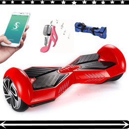 Wholesale New Phone APP quot Two Wheel Hoverboard Bluetooth Smart Balance Wheel Scooters Electric Self Balancing Drift Board Skateboard Drop Shipping