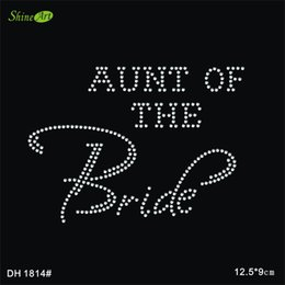 Wholesale Bride Bling aunt of the Clear Rhinestone Bride to Be Motif Bachelorette Party Iron On Hot Hix Transfer DIY DH1814