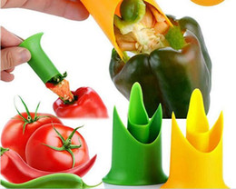 Wholesale New Arrival Vegetable Tools Pepper Corer Tomato Bell Pepper Seed Remover Kitchen Tools Gadgets