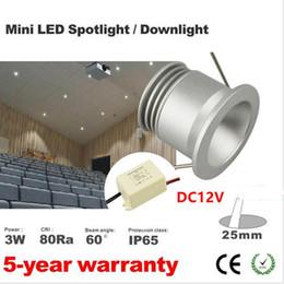 Hot Sale 3W LED Light Mini Spot Lamp 12V LED Indoor outdoor spot Lighting 60 degree 25mm cut out with mini 12VDC AC
