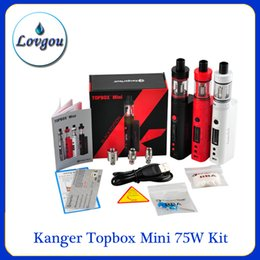 Wholesale Kanger Topbox Mini W Kit Subox Mini clone Pro Starter Kit Top Refilling Tank Watt TC Mod Newest KangerTech Beginner kanger dripbox