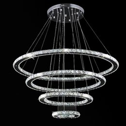VALLKIN Luxury Crystal Chandeliers DIY Shape LED Pendant Light Ceiling Lamp Lighting Fixtures with 140W AC100 to 240V CE FCC ROHS