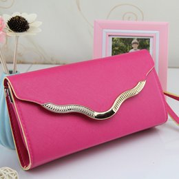 2018 PU Leather Women Candy Colors Bags High Quality Ladies Shoulder Bags Long Clutch Messenger Bags FDG-005