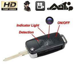 Descuento micro cámara espía oculto 5pcs / lot de la cámara HD 720P del coche llavero del espía Mini llave del coche Cámaras leva micro ocultada DV DVR Grabador de vídeo Mini videocámaras portátiles