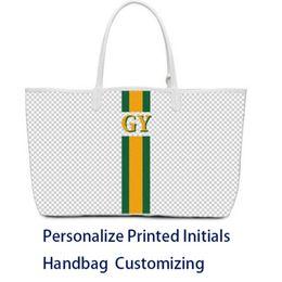 Wholesale Fashion High Quality Brand Designer handbag customizing GY bag personalize printed initials fee services