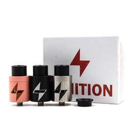 Wholesale Vaporizer IGNITION RDA Clone POST Rebuildable Atomizers With Wide Bore Drip Tip PEEK Insulator E Cigarette colors Fit Box Vape Mods DHL