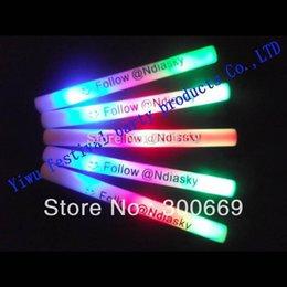 Conduit mousse bâton clignotant à vendre-Sticks Livraison gratuite coloré Led Foam bâton clignotant Glow personnaliser le logo pour la partie # 160908
