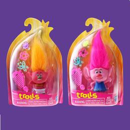 Wholesale New Trolls Anime toys Poppy Branch Critter Skitter PVC Action Figures Trolls for Children Baby Hasbro Toy