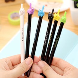 8 pcs Lot Cute kitties black ink gel pen Lucky cat Kawaii stationery zakka Office material escolar school supplies 6579