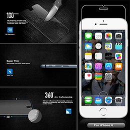 Iphone vidrio de alta calidad en venta-Película protectora para el iPhone 6 protector de cristal templado de 4.7 pulgadas El protector de pantalla ultra claro de la más alta calidad libera el envío
