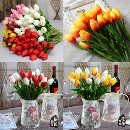 Wholesale Tulip Artificial Flower With Colors Fake Silk Cloth Flowers Colorful for Birthday Valentines Party Home Decoration