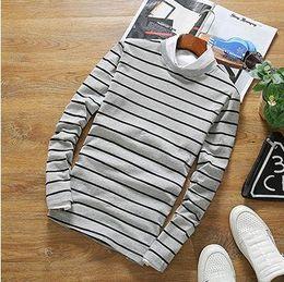 Wholesale Hong Kong male haihunshan tide black and white striped t shirt t shirt personality Harajuku haihunshan wind