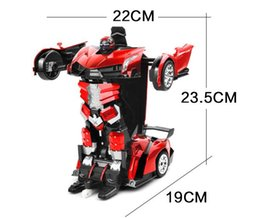 Transformers key remote control car a car deformation deformation robot toys for children red 30 * 12.8 * 7cm free shipping Customizable