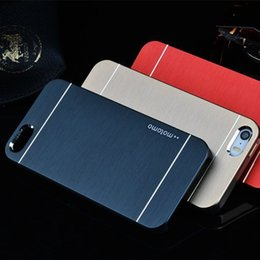 Wholesale In Stock iPhone S Motomo Case Metal Wire Drawing Back Cover Brush Cases For iPhone S S