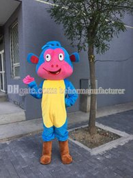 Wholesale Dora s friend Boots the monkey mascot suit naughty cute boots walking cartoon image of children x