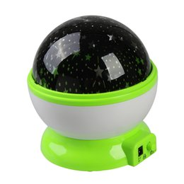 Wholesale Room Novelty Night Light Projector Lamp Rotary Flashing Starry Star Moon Sky Star Projector Kids Children Baby gifts DHL