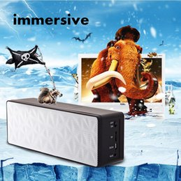 Wholesale Plastic Double Horn Intelligent Computer Speakers Touch key Private Mould Small Speakers Square Portable Music Player Broadcast Card Sound