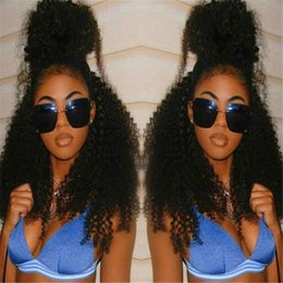 High Quality Soft Hair Malaysian Curly Hair Wig Hair Lace Front Wig Kinky Curly Lace Front Human Hair Wigs Natural Color