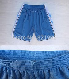 Wholesale Cheap Short North Carolina University Men s Blue Color Stitched Basketball Shorts Top Quality