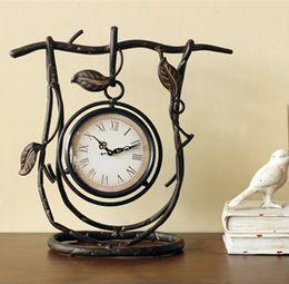 Wholesale Antique Iron Clock With Rattan CM