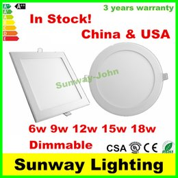 Wholesale Recessed LED ceiling Panel Down Lights Dimmable LED panels SMD2835 W W W W W Ultra thin LED Downlights Lighting Lamps CE UL CSA