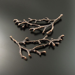 New Fashion 10PCS Lot Red Copper Branch Alloy Pendant Charm Jewelry Finding 59*45*6mm AU35351 jewelry making,DIY hot sale