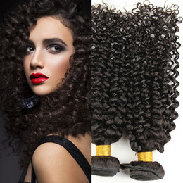 Cheap 7A Brazilian Virgin Hair kinky curly 4pcs natural Black hair Extensions Brazilian Virgin Hair 100% Unprocessed Remy Human Hair Weaves