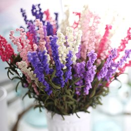 Crafts Simulation lavender flowers Wedding Artificial flowers Valentine's Day Christmas silk Home Decoration Plastic pu Flower K16185