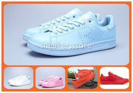 Wholesale 2016 new products raf simons stan smith spring blue pink orange red new balanced shoes fashion casual women men flats sneakers originals box