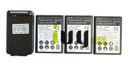 3pcs 3500mAh EB595675LU Batería + Cargador del reemplazo para la nota II 2 de la galaxia de Samsung N7100 N7000 N7102 t-móvil T889 Sprint L900 Verizon i605 desde notas t móviles fabricantes