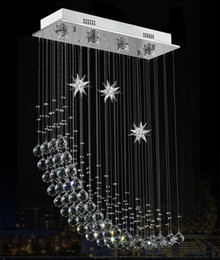 Wholesale Contemporary Modern Crystal Rain Drop Chandelier Lighting Flush Mount Led Ceiling Bathroom Fixtures Pendant Lamp for Living Dining Inch