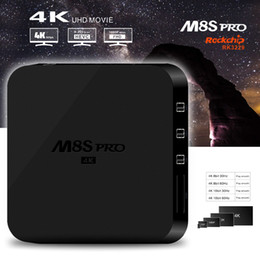 Wholesale M8S pro K RK3229 Android Kodi TV Box Support DLNA Google TV Remote M Lan D Moive b g n Wifi IPTV Boxes