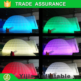 Wholesale Party wedding use LED igloo inflatable tent for outdoor and indoor