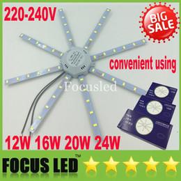 Поверхность панели для продажи-Легко заменить 12W 16W 20W 24W поверхность панели СИД холодный белый SMD 5730 с магнитом Светильник LED потолка вниз свет + источник питания 220-240В