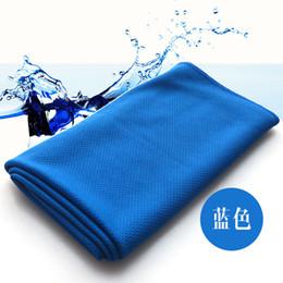 Descuento bufanda para el frío Creativo toalla fría sudor Ejercicio verano Toalla de hielo de 90 * 38 cm de Deportes de Hielo toalla fresca de enfriamiento hipotermia bufanda Lazos del cuello Scarve DHL libre