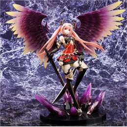 Wholesale 28CM Sexy Angel Action Figures Angle of Darkness Anime Model Toys for Chilren Adult Cartoon Figure Model Furishing Collection